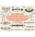Set of calligraphic design elements Labels banners vector image vector image