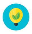 Eco idea flat circle icon vector image