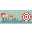 Business woman shooting target vector image