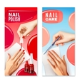 Nail Care Polish 2 Banners Set vector image