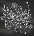 Chalk Merry Christmas Decoration vector image