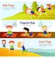 Kis Yoga Horizontal Banners Set vector image