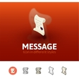Message icon in different style vector image