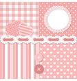 Pink scrapbook set vector image