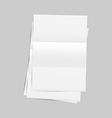 Set empty paper sheet with shadows vector image
