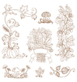Set of decorative Autumn branches vector image