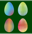 set of easter eggs with different dotted ornaments vector image