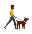 walking the dog design vector image