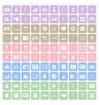100 Square icon vector image