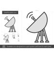 Satellite plate line icon vector image