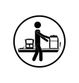 Pictogram passenger and baggage design vector image