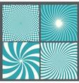 retro vintage hypnotic background vector image