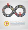 infinity road location vector image