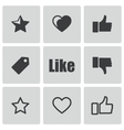 black like icons set vector image