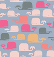 Cute seamless print with whales vector image