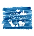 Blue background with a vintage typography sign vector image