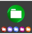 Folder attachment badge flat icon sign set symbol vector image