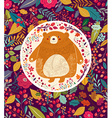 Bear in autumn forest vector image vector image