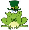 Happy Leprechaun Frog vector image