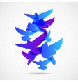 pigeons design background vector image vector image