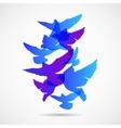 pigeons design background vector image