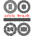 celtic brush vector image