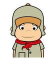 Scout boy cartoon icon vector image