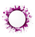 Abstract Violet Bubble With Blobs vector image