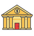 bank court of justice flat line vector image