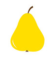 big fresh yellow pear icon healthy food lifestyle vector image