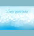 bokeh lights on sky blue background vector image