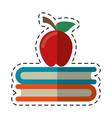 cartoon apple book school symbol vector image