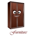 Cartoon wardrobe character vector image