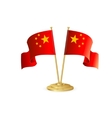 China table flag isolated vector image