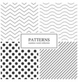 collection of simple seamless geometric patterns vector image