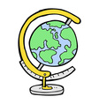 comic cartoon globe vector image