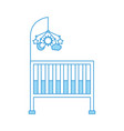 cot baby shower with mobile toy furniture infant vector image