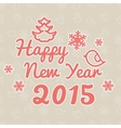 Happy New Year Christmas frame on snow Background vector image
