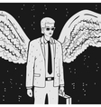 Man in a suit with wings vector image