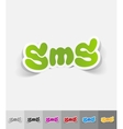 realistic design element sms message vector image