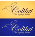 Two colibri banners vector image