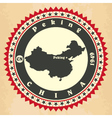 Vintage label-sticker cards of China vector image