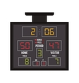 basketball scoreboard icon vector image