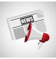 concept news paper megaphone speaker graphic vector image
