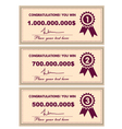 Award certificates vector image vector image
