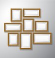 Picture Frames Wooden Variety vector image