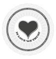 Guilloche valentines heart vector image