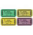 Cinema tickets set vector image