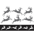 Set of different running and jumping Christmas vector image