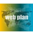words web plan on digital touch screen vector image